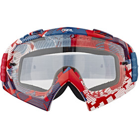 O'Neal B-10 Lunettes de protection, pixel red/blue-clear